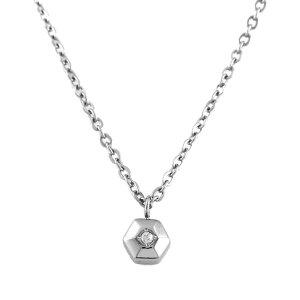 チタンネックレス Hexagon 天然ダイヤモンド
