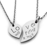 チタンペアネックレス Love will find a way