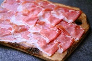 無添加 パルマ産プロシュット 24ヶ月熟成80gスライスパック【冷蔵/冷凍】手切りオーダースライス/ Parma Cured Ham 24 Months