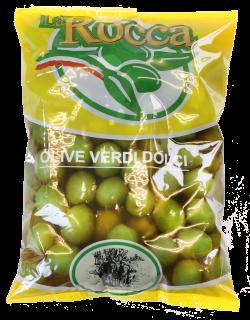 ラ・ロッカ グリーンオリーブ小粒500g【冷蔵】 / La Rocca Small Sweet Green Olives