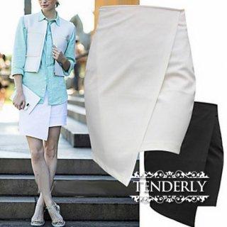 巻きスカート風 アシンメトリーがオシャレなタイトスカート