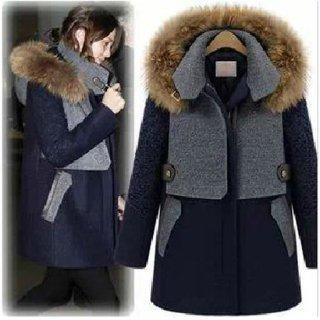 フード取り外しOKのミリタリー風スタンドカラー中綿コート