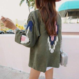 オルテガ刺繍のミリタリージャケット