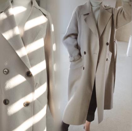オフィスカジュアルに 上品カラーできれいめなベルト付きトレンチコート チェスターコート 2色