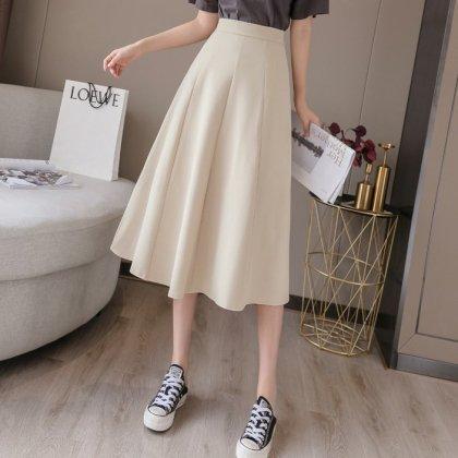 オフィスカジュアルや通勤コーデにも 人気のきれいめロングフレアスカート 3色