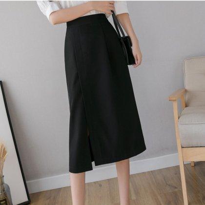 オフィスカジュアルや通勤コーデにおすすめ シンプルエレガントなミディアムスカート 3色