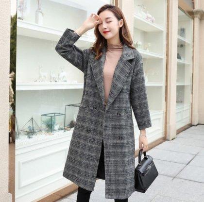 オトナ女子の秋冬コーデに 定番かわいいチェック柄チェスターコート 4色