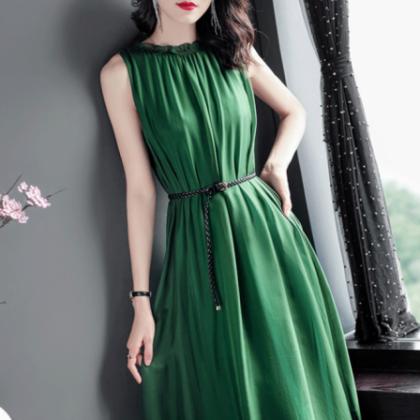 オトナ女子のお呼ばれコーデに エレガントなギャザーシフォンのロングワンピース ドレス 2色