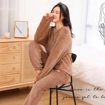 秋冬のルームウェアにおすすめ ふわもこでかわいい長袖セパレートパジャマ 5色