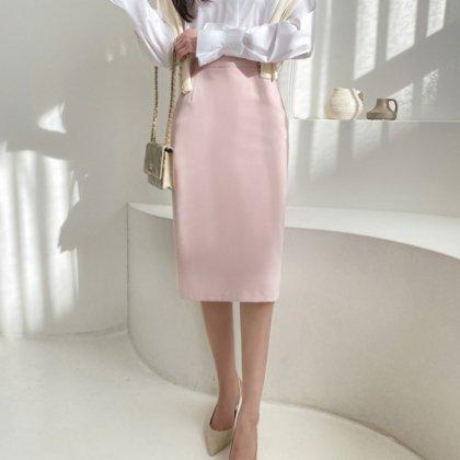 オフィススタイルや通勤にも活躍 美シルエットな膝丈きれいめペンシルスカート 3色