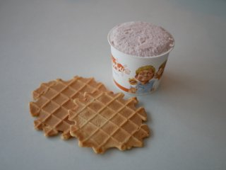アイス6個 +ワッフルチップス(プレーン&チョコ)