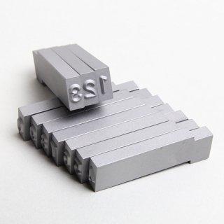 【標準セットマーカー駒プレス用】I型 文字内容(0〜9)/材質(SK3材)