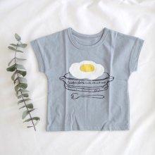 Fried egg T<br>Blue<br>nijiiro select<br>2016SS