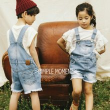 デニムオーバーオール<br>Denim overall(Shorts)<br>『Dimplemoment』 <br>16SS<br>定価<s>5,900円</s> <b>20%Off</b>