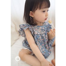 Baby Flower Dress<br>ベビーフラワードレス<br>With MoM<br>【3~48month±3m】<br>『Arim Closet』 <br>16FW