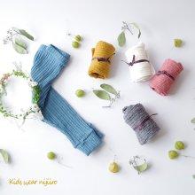 リブウォームレギンス<br>Rib warm leggins<br>Gray/Ivory/Blue/Pink/Mustard<br>『nijiiro select』 <br>16FW
