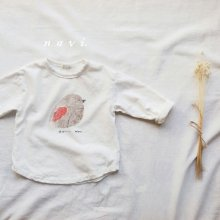 すずめさんロングT<br>Sparrow Long T<br>Ivory/Pink<br>『nijiiro select』<br>17SS<br>定価<s>1,800円</s>