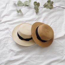 カンカン帽/Boater<br>Dark/Natural beige<br>『nijiiro select』<br>19SS