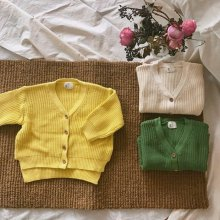 Hey cardigan<br>ivory/yellow/green<br>『Ojo de papa』<br>17SS
