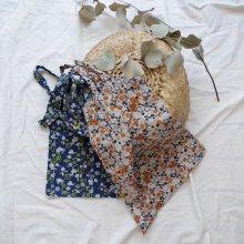 my little flower bag<br>for Mom<br>Orange/Navy<br>『musee de ozo』<br>17SS