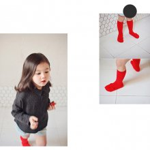 Puppy Socks<br>Black+Orange/Red+White/Blue+Yellow<br>『Bien a Bien』 <br>17SS