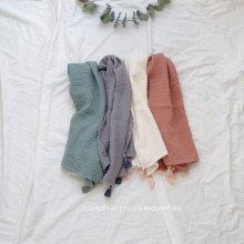 Tassel cotton scarf<br>4 Color『salon de Jue』<br>18SS