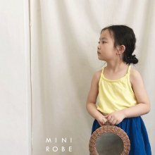 No Sleeve T<br>yellow<br>『MINI ROBE』<br>18SS<br>定価<s>1,500円</s> <b>20%Off</b>