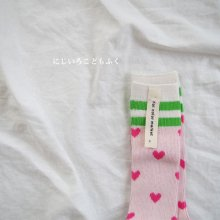 Love summer knee socks<br>Set of 2<br>『yoi』<br>18SS