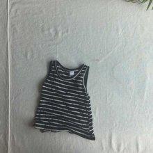 Linen stripe sleeveless<br>black<br>『O'ahu』<br>18SS<br>定価<s>1,300円</s><b>20%Off</b>