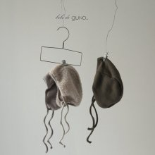 le check bonnet<br>3 color<br>『bebe de guno.』<br>18FW <br>定価<s>2,080円</s> <b>10%Off</b>