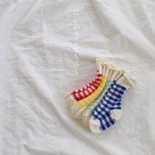 check socks set<br>4 color 1 set<br>『 Doremi 』<br>______Restock