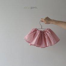 bebe 3 skirt bloomer<br>pink check<br>『bebe de guno.』<br>19SS <br>定価<s>2,900円</s>