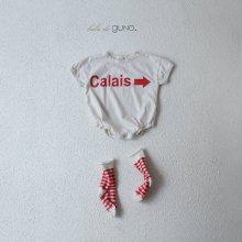 Calais babysuit <br>ivory<br>『bebe de guno.』<br>19SS <br>定価<s>3,060円</s>