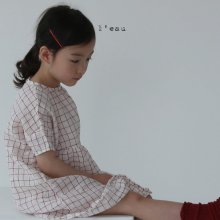 Check linen ops<br>red<br>『 l'eau 』<br>19SS <br>定価<s>4,200円</s>