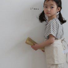 check shirts<br>grayish khaki<br>『 l'eau 』<br>19SS <br>定価<s>2,900円</s>