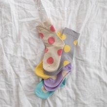 Dot socks set<br>5 color 1 set<br>『 Doremi 』<br>【Restock】
