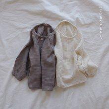 Cotton T<br>cream / gray<br>『Serobin』<br>19FW <br>定価<s>2,600円</s>