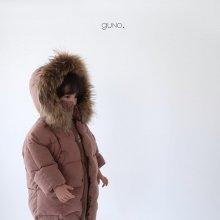 guno racoon padding<br>pink brown<br>『guno・』<br>19FW <br>定価<s>9,800円</s>