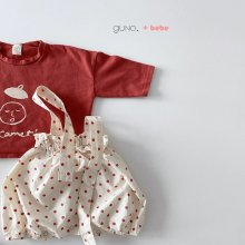 bebe face T<br>red<br>『bebe de guno・』<br>20SS <br>定価<s>1,700円</s><br>18M