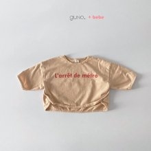 bebe metro T<br>light orange<br>『bebe de guno・』<br>20SS <br>定価<s>1,700円</s>