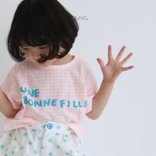 bon fille T<br>neon pink check<br>『guno・』<br>20SS <br>定価<s>1,800円</s>S/XL