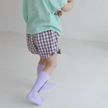 3 step check shorts<br>3 vioret<br>『l'eau』<br>20SS
