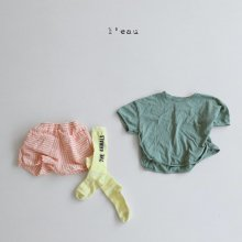 stitch pocket T<br>green<br>『l'eau』<br>20SS <br>定価<s>1,900円</s>S