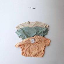 stitch pocket T<br>beige<br>『l'eau』<br>20SS <br>定価<s>1,900円</s>S/M/XL