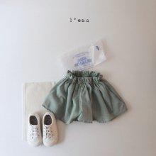 parisian skirt pants<br>green<br>『l'eau』<br>20SS <br>定価<s>2,900円</s>S/L