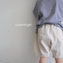 chuing check pants<br>beige, blue<br>『opening N』<br>20SS <br>定価<s>2,600円</s><br>XS/M/XL