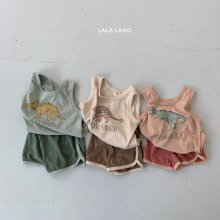 Dinosaur set<br>3 color<br>『lala land』<br>20SS <br>定価<s>2,400円</s>