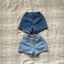 Garson denim shorts<br>2 color<br>『O'ahu』<br>20SS<br>定価<s>2,900円</s><br>Blue/XL