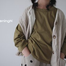 Autumn joy T<br>4 color<br>『opening N』<br>20FW【STOCK】<br>Olive/XS/S/M