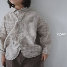 Ozz check shirts<br>2 color<br>『opening N』<br>20FW